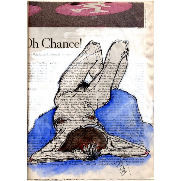 Oh Chance – Skizze auf Zeitungspapier